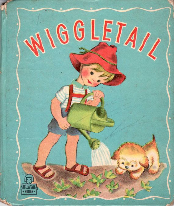 Vintage 1940s wiggletail childrens book for Children s fish book