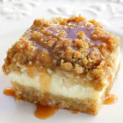 Easy Caramel Apple Cheesecake Bars | Yummo | Pinterest