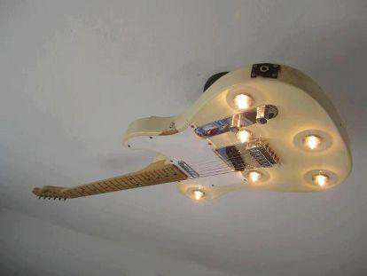 Guitar ceiling light