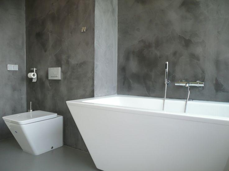 Gietvloer badkamer 02  Interieur  Pinterest