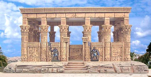 Egyptian temple mold miniature making tutorials pinterest for Architecture design company in egypt