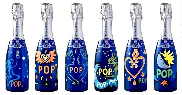Perfect for house warming party pommery champagne pop pink rose mini