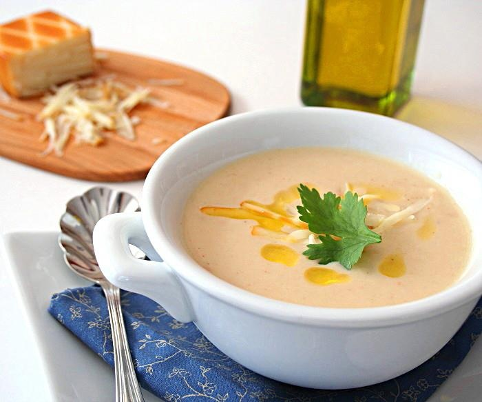 Cauliflower and Smoked Cheddar Soup | Super Soups and Sandwiches | Pi ...