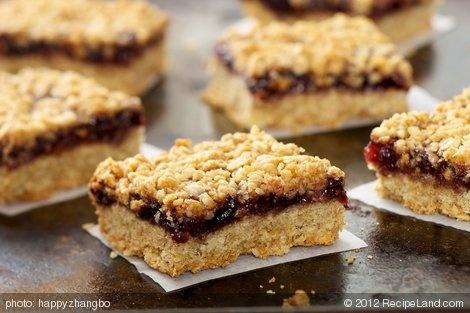 Oatmeal Raspberry Bar Cookies (Healthier Version) | Recipe