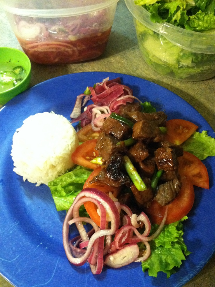 Bo Luc Lac (Vietnamese Shaking Beef) I made for dinner tonight. It was ...