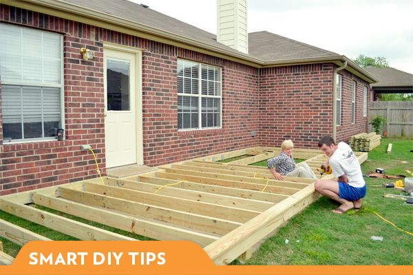 Backyard Decks Diy : Building a deck outside a home  Some creative ideas for home  Pinte