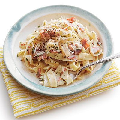 Country Ham Carbonara from Southern Living... Just what a Southern ...