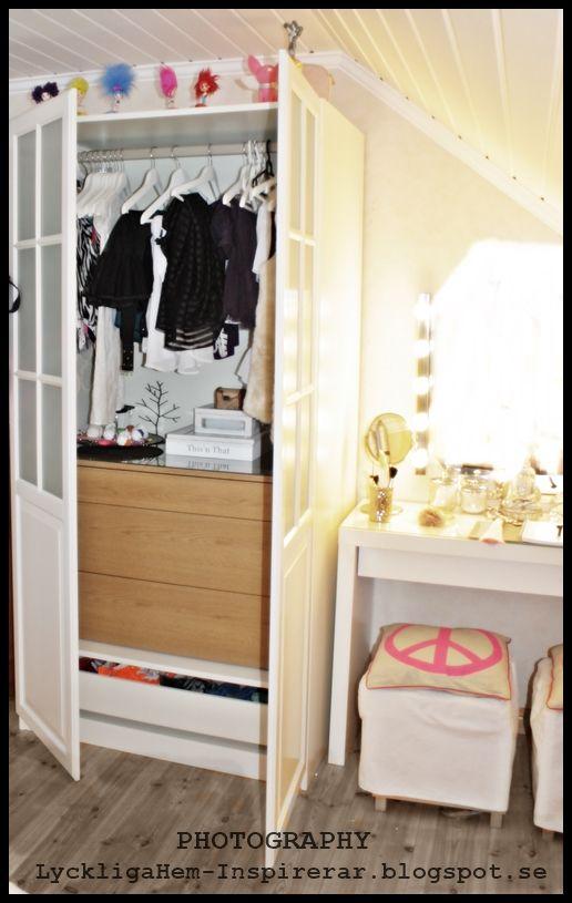 Garderob, fin förvaring, Ikea, wardrobe.  DECORATE  Pinterest