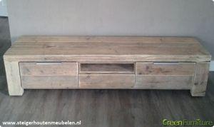 TV Meubel steigerhout  steigerhout  Pinterest