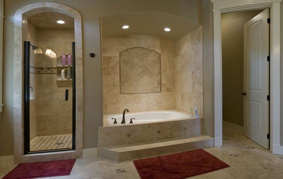 Tub with stand up shower for the home pinterest for Stand up bath tub