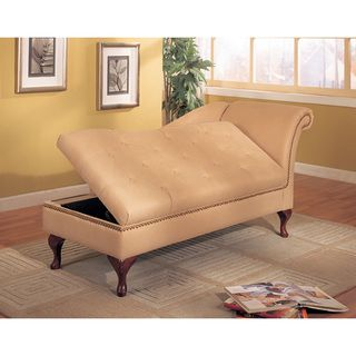 Microfiber chaise lounge with storage - Chaise daling ...