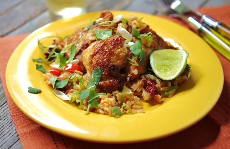 Chipotle chicken and rice.