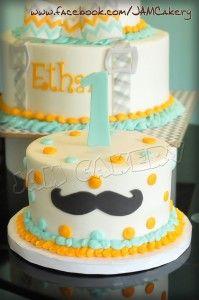 Little Man Smash Cake  Little Man Birthday Party  Pinterest