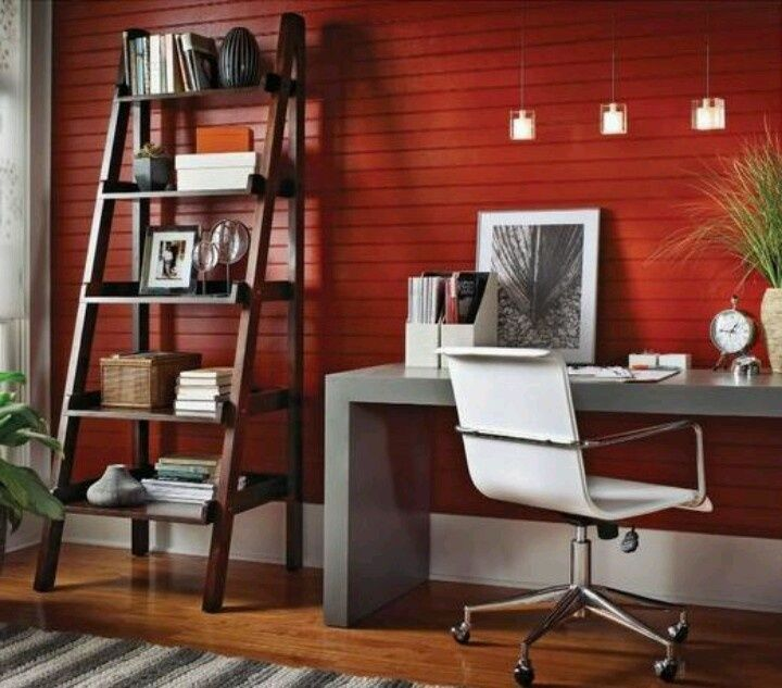 Fantastic Red Home Office  Home Offices  Design Ideas  Image  Housetohome