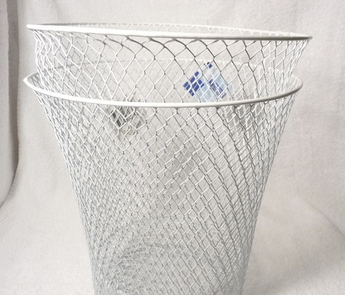 Wire Waste Basket Endearing With Wire Mesh Trash Baskets Photo