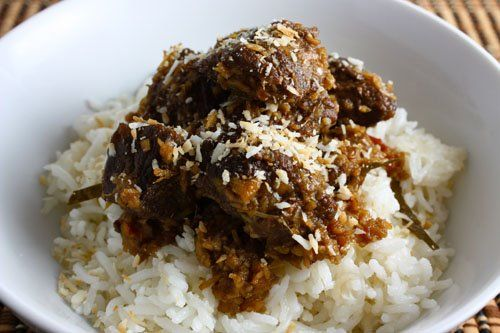 Beef rendangan Indonesian dish that is basically beef braised in ...