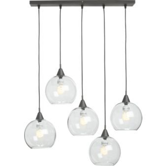 exposed glass bulb chandelier