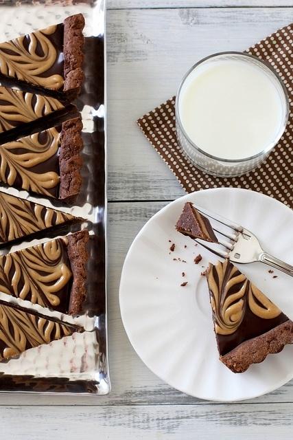 Chocolate peanut butter tart | tarts and pies | Pinterest