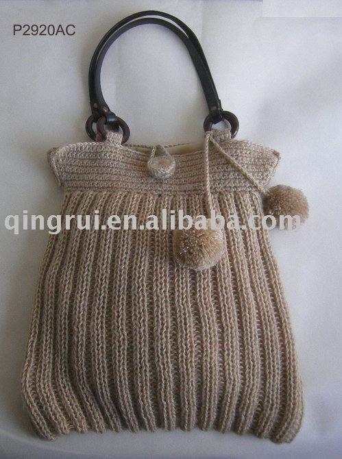wool bag / wool-knitted bag/ wool handbag /crochet bag