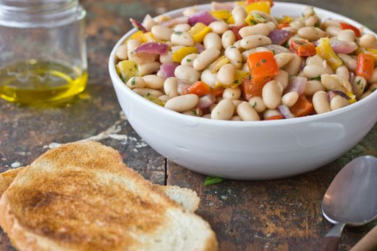 White Bean and Roasted Vegetable Salad. Looking for sides and a way to ...