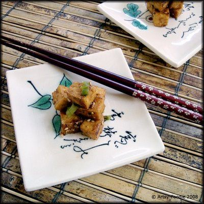 Caramelized Tofu with Green Onions and Seaweed Gomasio