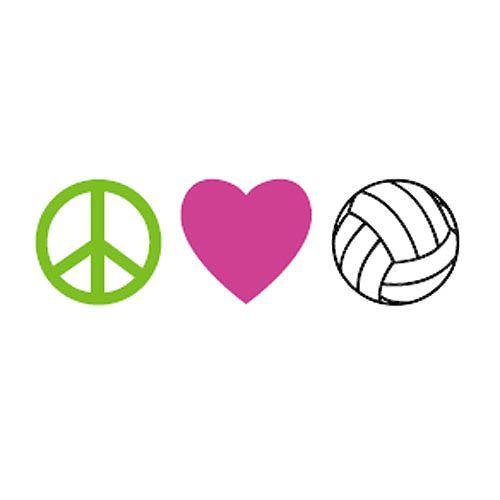 Peace Love VolleyballI Love Volleyball Wallpaper