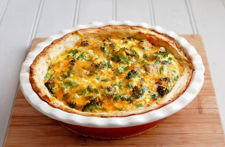 Broccoli Quiche With Mashed Potato Crust Recipe — Dishmaps