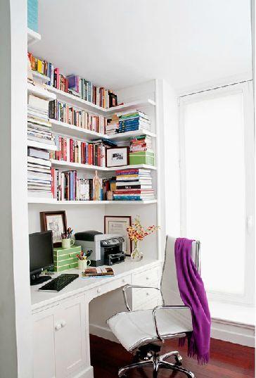 Built in desk with wrap around shelves scotts pinterest Built in desk