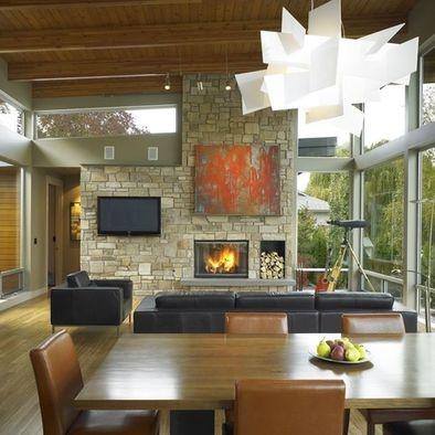 Asymmetrical Tv Fireplace Solution Jodi Pinterest