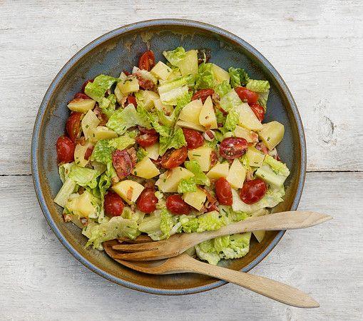 Bacon Lettuce and Tomato Potato Salad Recipe http://www.framedcooks ...