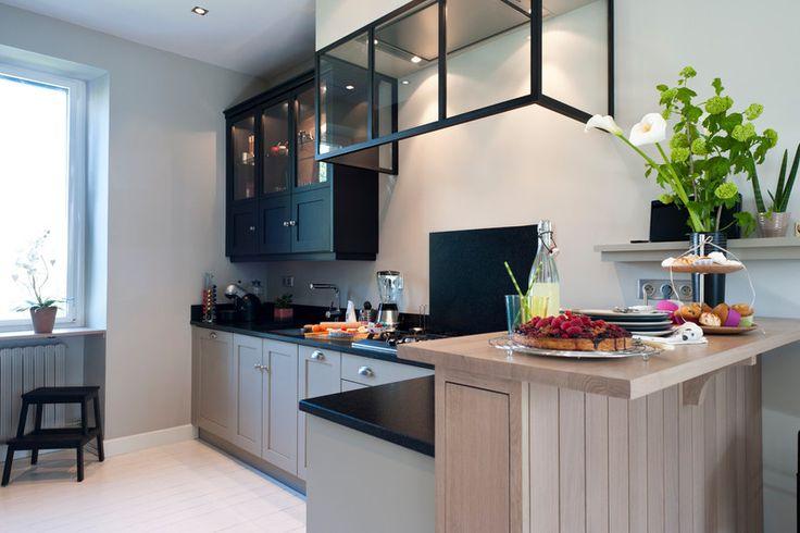 cuisine avec hotte verri re cuisine pinterest. Black Bedroom Furniture Sets. Home Design Ideas