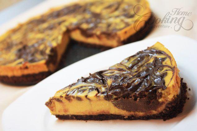 Chocolate-Pumpkin Cheesecake :: Home Cooking Adventure