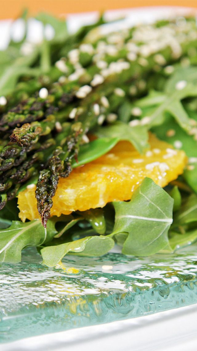 ... Asparagus Salad with Valencia Oranges and Ginger-Citrus Vinaigrette