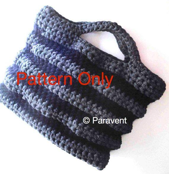 Knitting Patterns For Zpagetti Yarn : Zpagetti Shopping Bag Pattern - t-shirt yarn and chunky ...