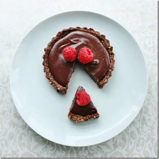 Vegan Chocolate Tart with Crust of Oat, Walnut, Cocoa, Date, & Maple ...