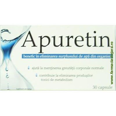Apuretin Capsule pt. eliminarea excesului de apa din organism