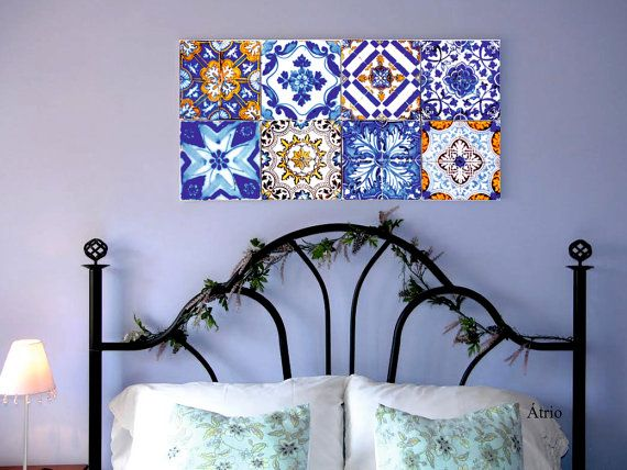Portugal Antique AZULEJO Tile Replica WALL ART from the by Atrio,