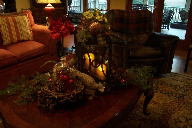 Christmas Coffee Table Tablescape Seasonal Decor Pinterest