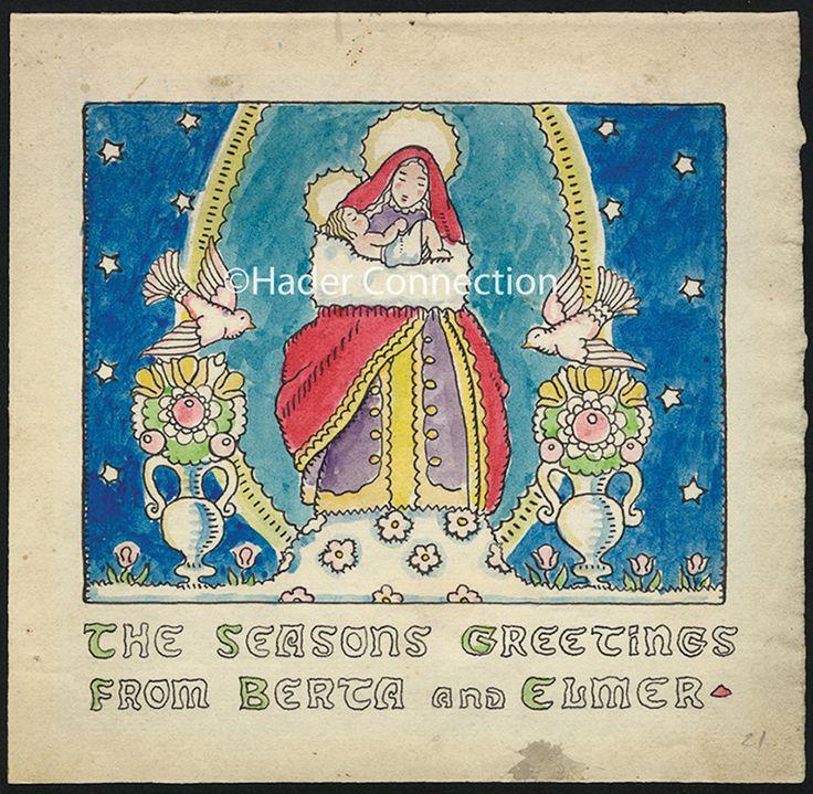 Christmas Card 1920   Hader, Berta & Elmer   Pinterest: pinterest.com/pin/573575702512330240