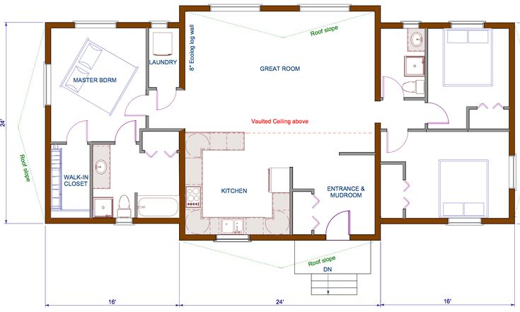 Open Concept Bungalow House Plans Canada Home Cottage