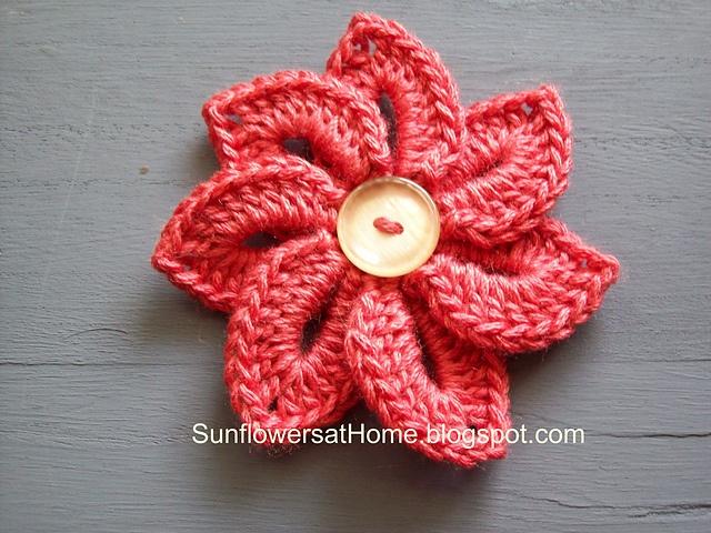Croco Flower - free Ravelry pattern Crochet - Everything ...