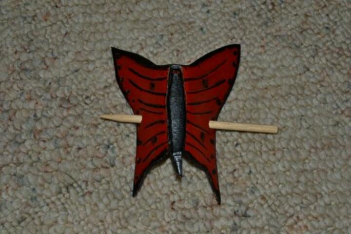 Leather butterfly hair piece | A Handmade Christmas | Pinterest