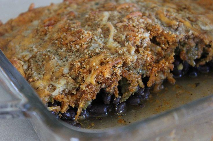Southwestern Black Bean and Green Chili Gratin! #vegetarian #recipe # ...