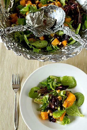 ... Contessa's roasted butternut squash salad with warm cider vinaigrette
