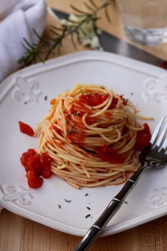 Spicy Rosemary Spaghetti. Nice heat and easy to make with few ...