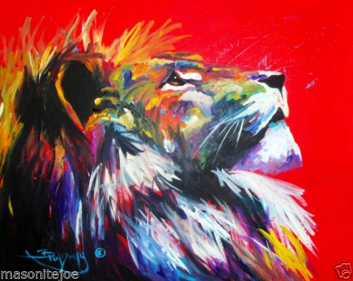 Colorful lion painting - photo#23