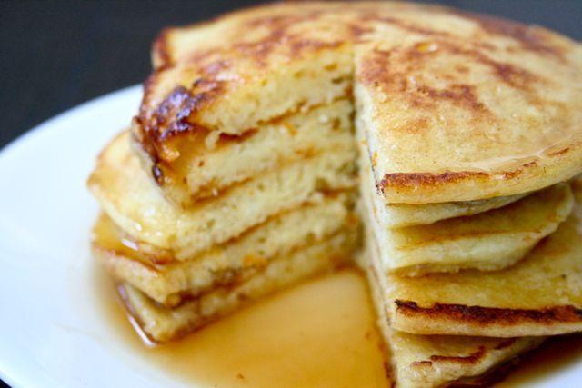 Orange Ricotta Pancakes #SundaySupper @Nancy