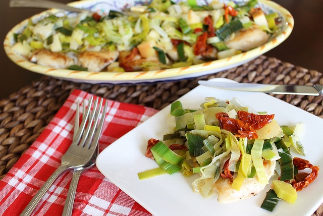 Chicken with Leeks, Apples & Sun-dried Tomatoes | Recipe