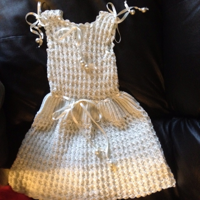 Crochet Patterns Little Girl Dresses : Handmade crochet dress for little girl. crochet patterns :) Pinte ...