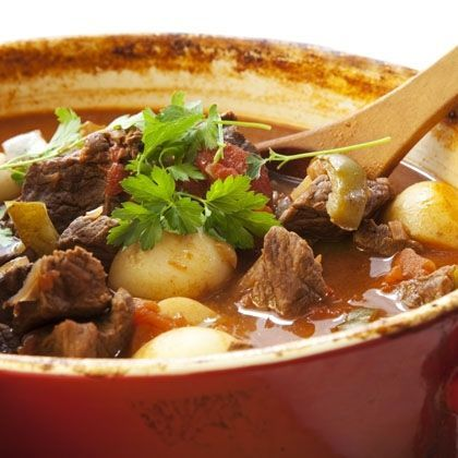 Bacon, Mushroom and Beef Stew | Comfort Foods | Pinterest